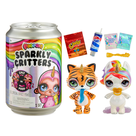 "Poopsie Sparkly Critters 6"" Figures That Magically Poop or Spit Slime"