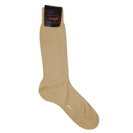 Brioni Men's Tan 100% Cotton Socks (12)