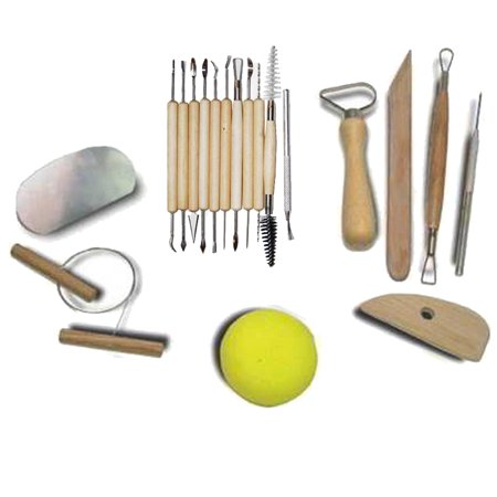 19pc Pottery Artist Clay Molding Tool Set
