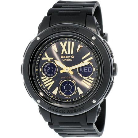 Black Rubber Watch - Casio Women's Baby-G BGA153-1B Black Rubber Quartz Sport Watch