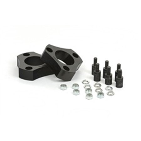 Daystar KN09106BK Suspension Strut Spacer Leveling Kit; Black; 2 in. Lift; Front; Easy Install Kit; For Tire Size 32 in.; Wheel Alignment Needed;