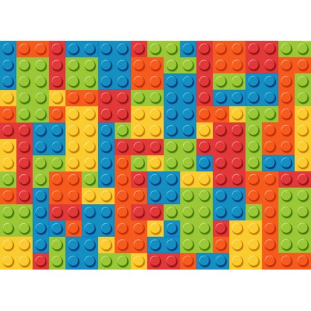 1/4 Sheet Lego Base Colors Building Block Edible Frosting Cake Topper* - First Birthday Cakes For Girls