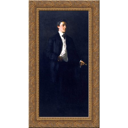 William Glackens 24x14 Gold Ornate Wood Framed Canvas Art by Robert Henri