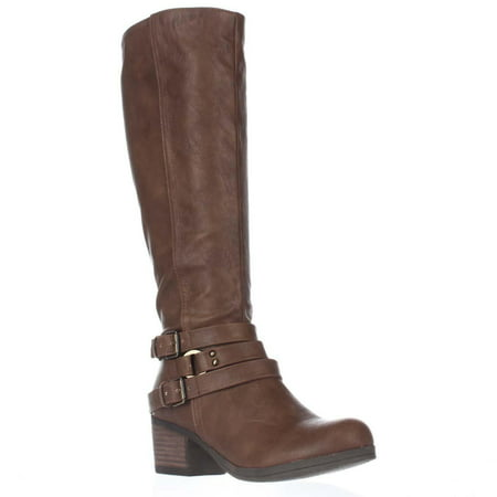 Womens Carlos by Carlos Santana Camdyn Multi Buckle Riding Boots, Cognac, 5.5 US / 35.5 EU