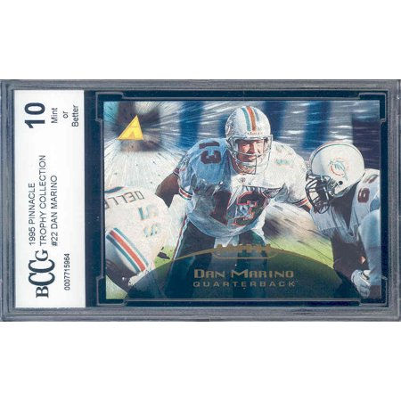 1995 pinnacle trophy collection #22 DAN MARINO dolphins BGS BCCG 10