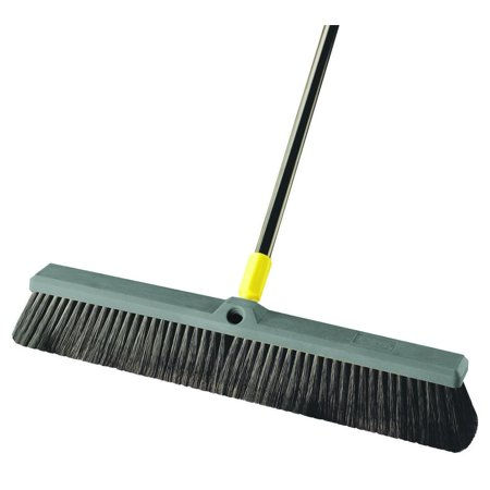 Quickie Multi-Sweep Push Broom, Black Polypropylene Fiber Bristle