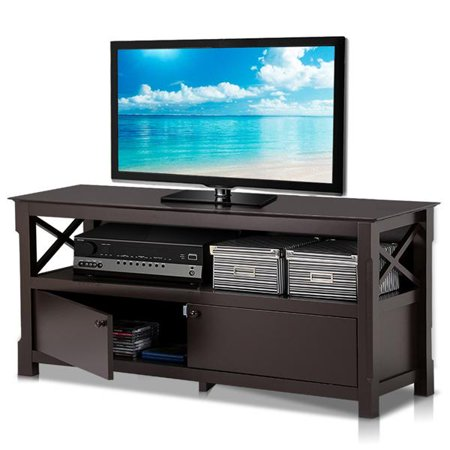Yaheetech X Shape Wood Tv Stand Media Console Cabinet Home Entertainment Center Table For Flat