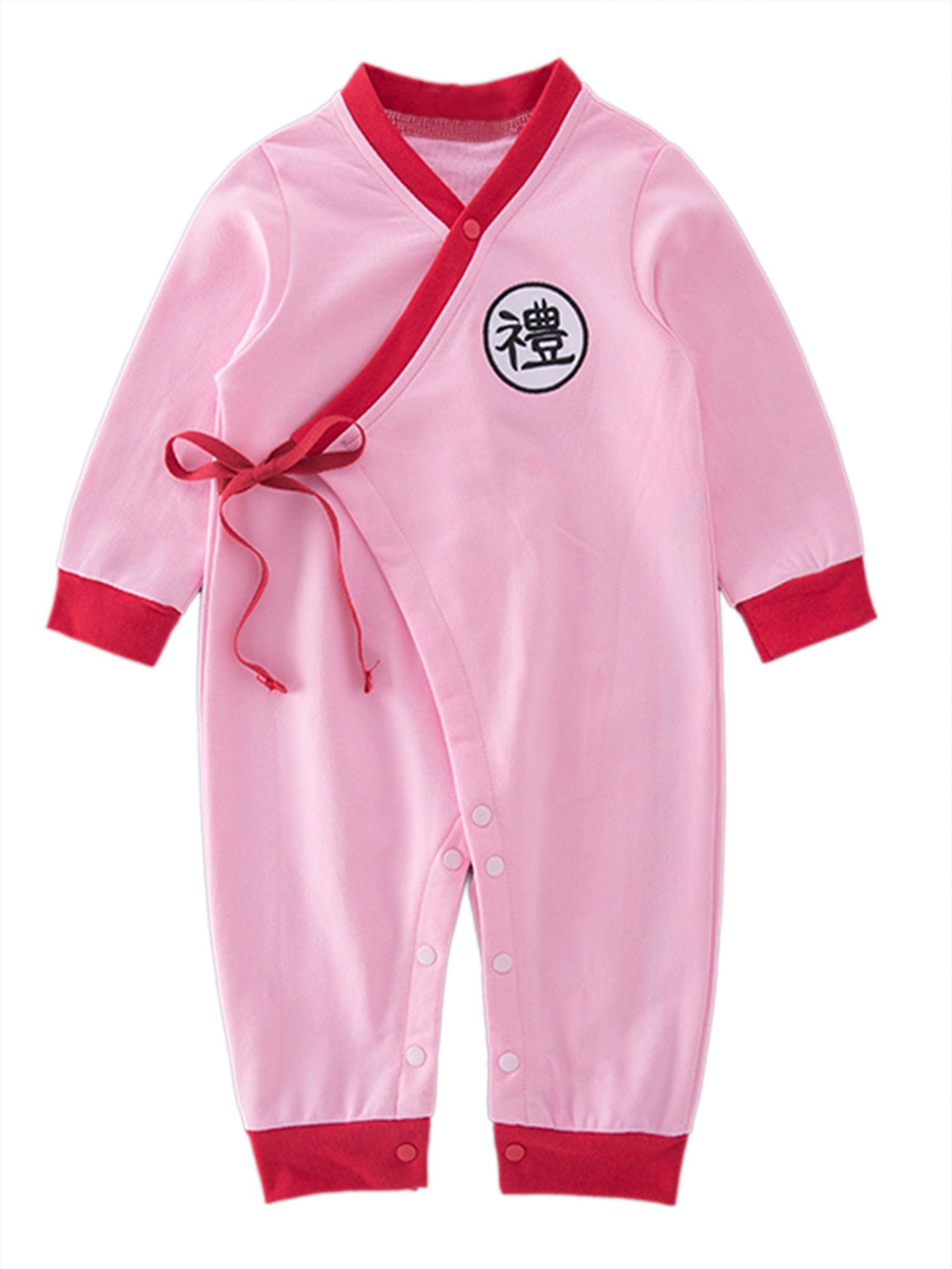 stylesilove Baby Toddler Boys Asian Inspired Long Sleeves Costume Romper