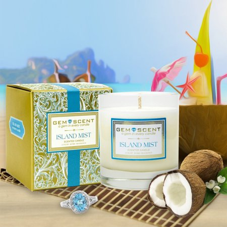 Gemscent Island Mist Boxed Soy Candle 11oz Home Decor Aromatherapy Spa Relaxation Relax Day Spa