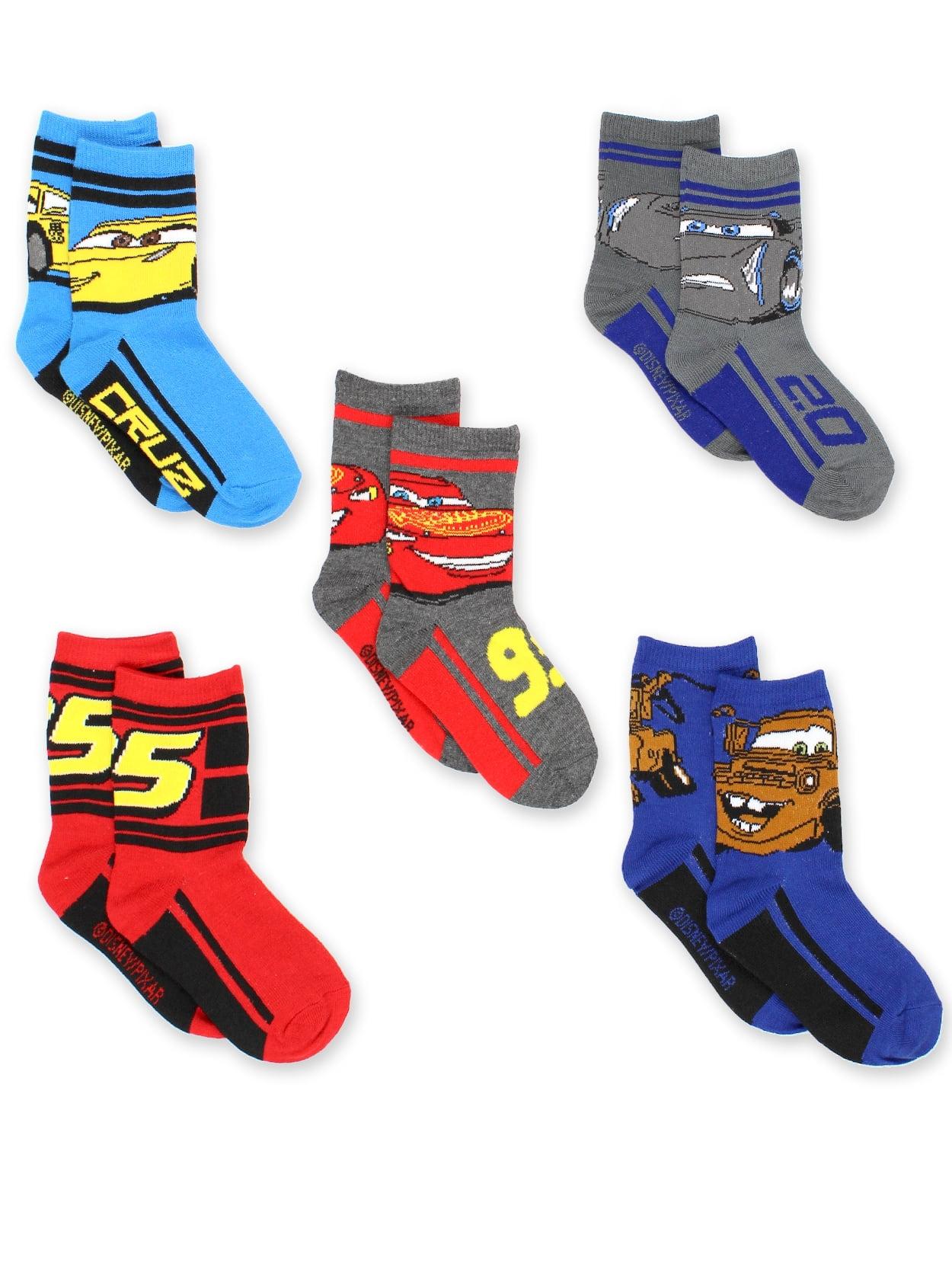 Disney Cars 3 Boys Toddler 5 pack Crew Socks C3094BCCZA