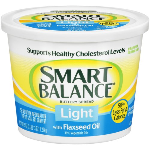 Smart Balance Light Buttery Spread with Flaxseed Oil, 45 oz