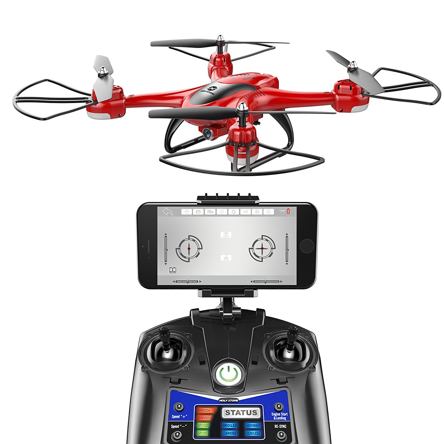 Holy Stone HS200D FPV RC Drone with 720P Camera 120�FOV Live Video WiFi Quadcopter for Beginners and Kids RTF... by