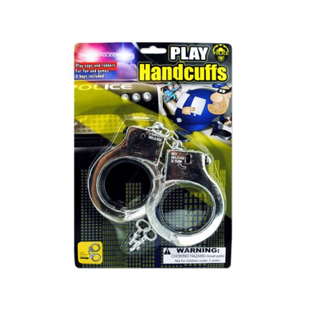 Police Play Plastic Handcuffs (Pack Of 24) (Plastic Handcuffs)
