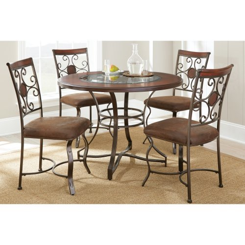 Steve Silver Toledo 5 Piece Dining Table Set - Cherry