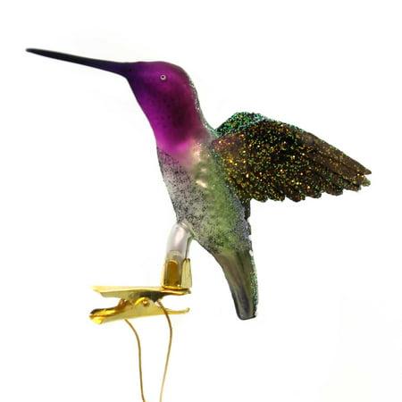 Holiday Ornaments HUMMINGBIRD CLIP-ON Glass Christmas Nb0589 - Hummingbird Clip