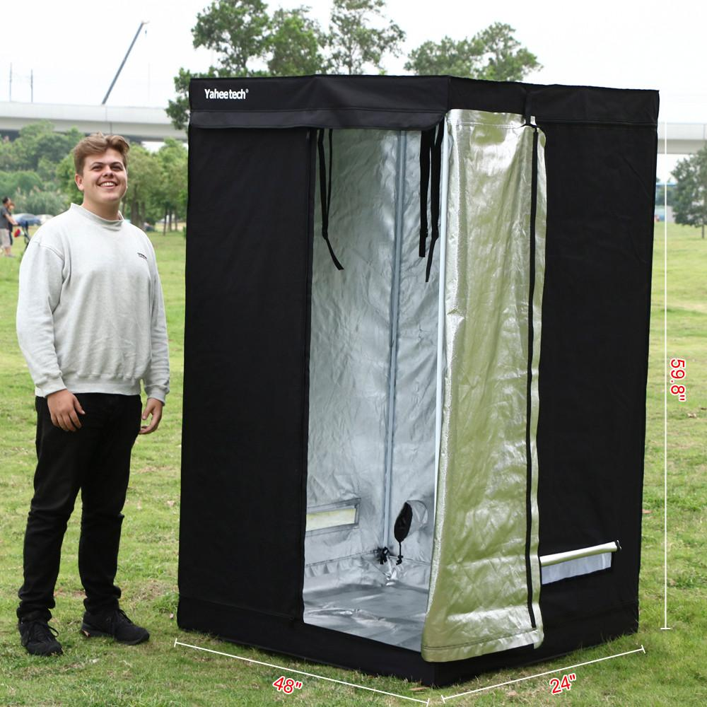 Yaheetech 48 x 24 x 60  Grow Tents Reflective Hydroponics Plant Growing Room  sc 1 st  Walmart : outdoor grow tent - memphite.com