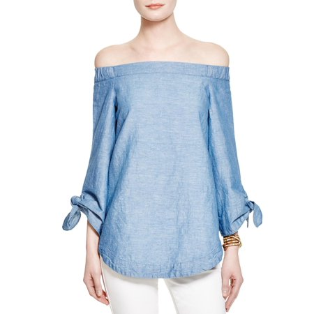 Free People Womens Linen Heathered Blouse