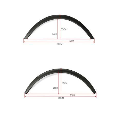 4x Black Universal Fender Flares Flexible Durable Polyurethane Auto Car Body Kit - image 5 of 7