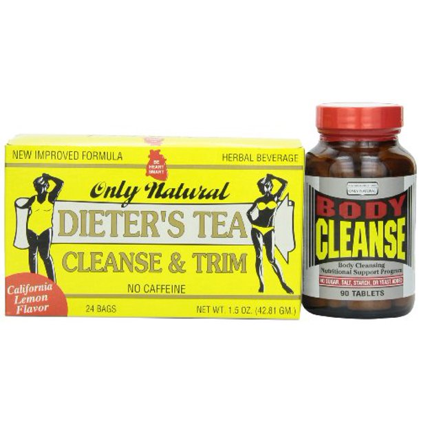 Only Natural Body Cleanse, Herbal Tea & 90-Count Tablets