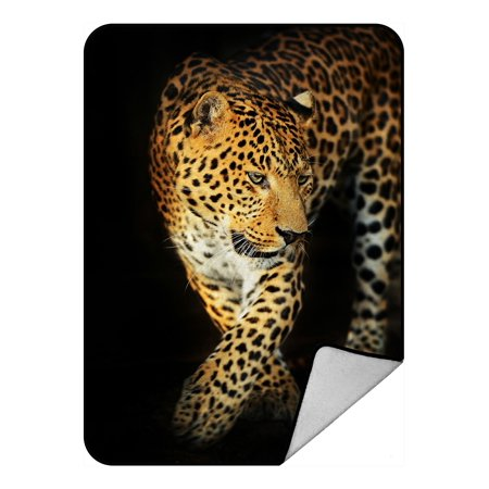 - PHFZK Wildlife Blanket, Nature Series of Animal Leopard Fleece Blanket Crystal Velvet Front and Lambswool Sherpa Fleece Back Throw Blanket 58x80inches
