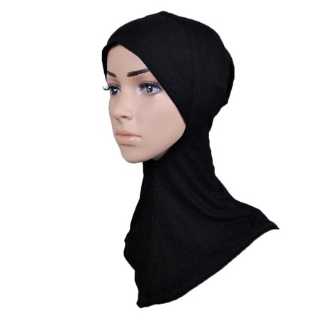 KABOER 1 Pcs Muslim Mini Hijab Headscarf Solid Color Hat Head Scarf Cap