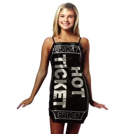 Totally Ghoul Teen Girls Green & Black Hot Ticket Costume