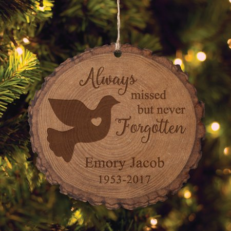 Personalized Memorial Christmas Ornament - Always Missed Bark Ornament