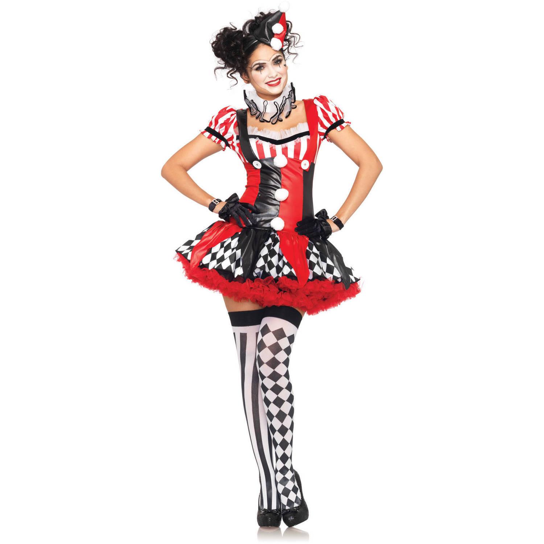 Leg Avenue Harlequin Clown Adult Halloween Costume