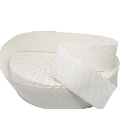 "Porcelynne White Plush Waistband Elastic - 2"" Wide - 1 Yard"