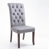 Clearance!Dining Chairs Set of 2, Upholstered Tufted Dining Chair With Button-Tufted, Classic High Back Padded Armless Parsons Chair with Solid Wood Legs, Side Chair for Home/Kitchen/Living Room/Party