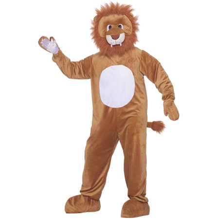 Leo the Lion Mascot Adult Halloween Costume, Size: Men's - One Size