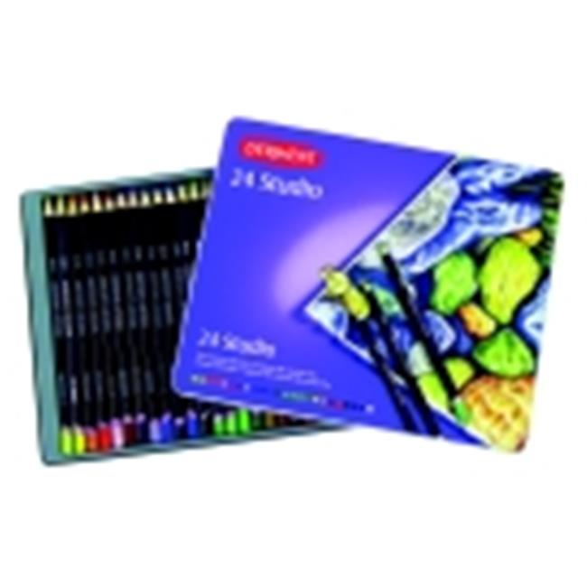 Derwent Hexagonal Non-Toxic Studio Colored Pencil - Assorted Color, Pack 24