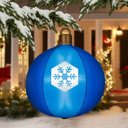 Airblown Inflatable-Hanging Ball Ornament 2.5ft tall by Gemmy Industries - Airblown Inflatable-Hanging Ball Ornament 2.5ft Tall By Gemmy