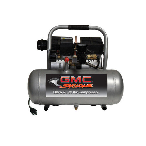 GMC Power Equipment 1.6 Gallon GMC Syclone 1610A Ultra Quiet and Oil-Free Air Compressor