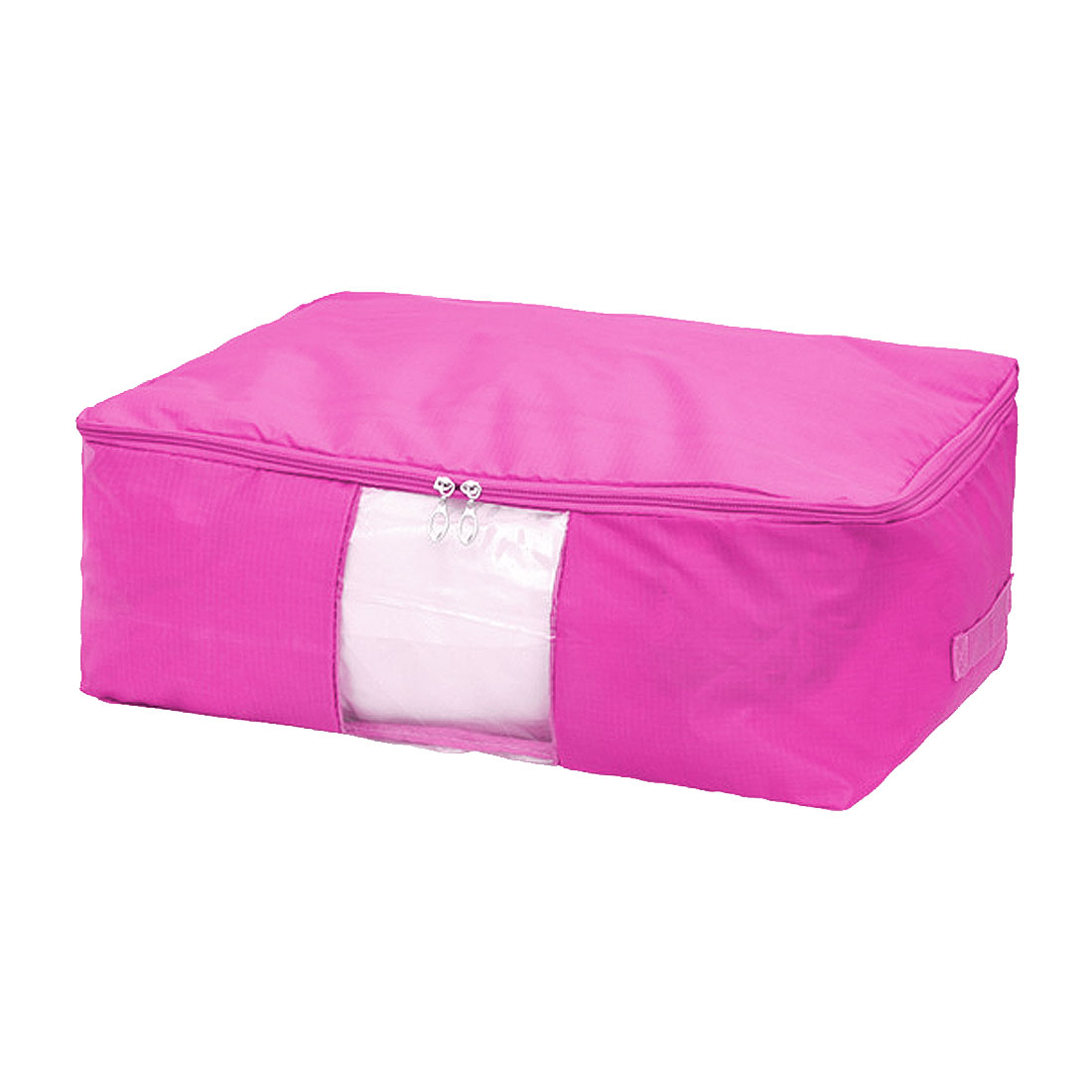 Blanket Pillows Quilts Clothes Beddings Storage Bag Organizer Fuchsia 60x50x28cm by Unique-Bargains