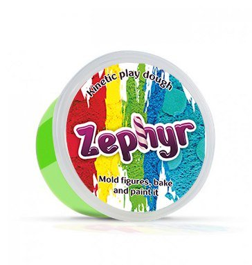Zephyr, Kinetic Play-doh in containers (Green) Kinetic Sand Modeling Plasticine Polymer Clay Could be Baked