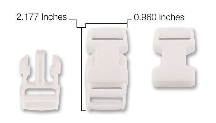 25-3//4 Inch Economy Side Release Plastic Buckles