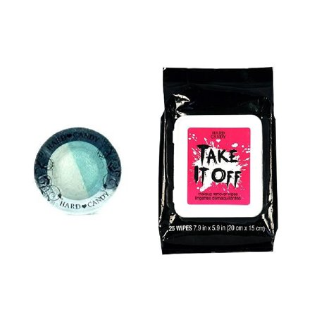 Hard Candy Kal-eye-descope Baked Eyeshadow Duo 067 Pick up Line + Hard Candy TAKE IT OFF Makeup Remover Wipes, 25 Count + Schick Slim Twin ST for Sensitive (St Patrick's Day Makeup)