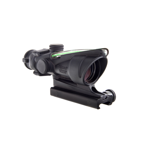 Trijicon ACOG Rifle Scope, 4X32, Green Chevron Reticle, Includes Flattop Mount, Matte by Trijicon