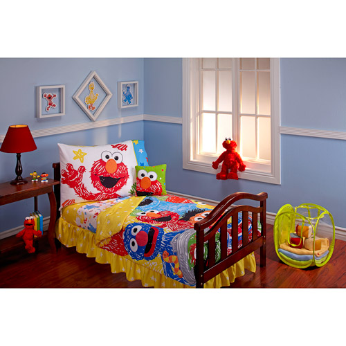 DISCONTINUED - Sesame Street Scribbles 10-Piece Toddler Bedding Set