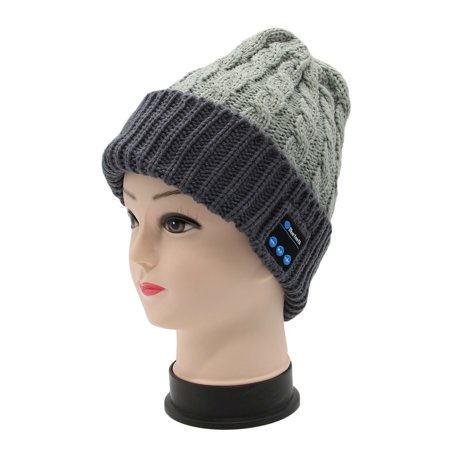 8a7de3405c615 Bluetooth Beanie Hat Knitted Music Hat Winter Bluetooth Cap with Stereo  Headphone Speaker Hands-Free ...