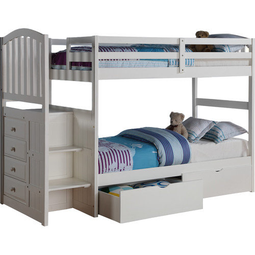 Donco Kids Donco Kids Twin Bunk Bed with Storage Walmart