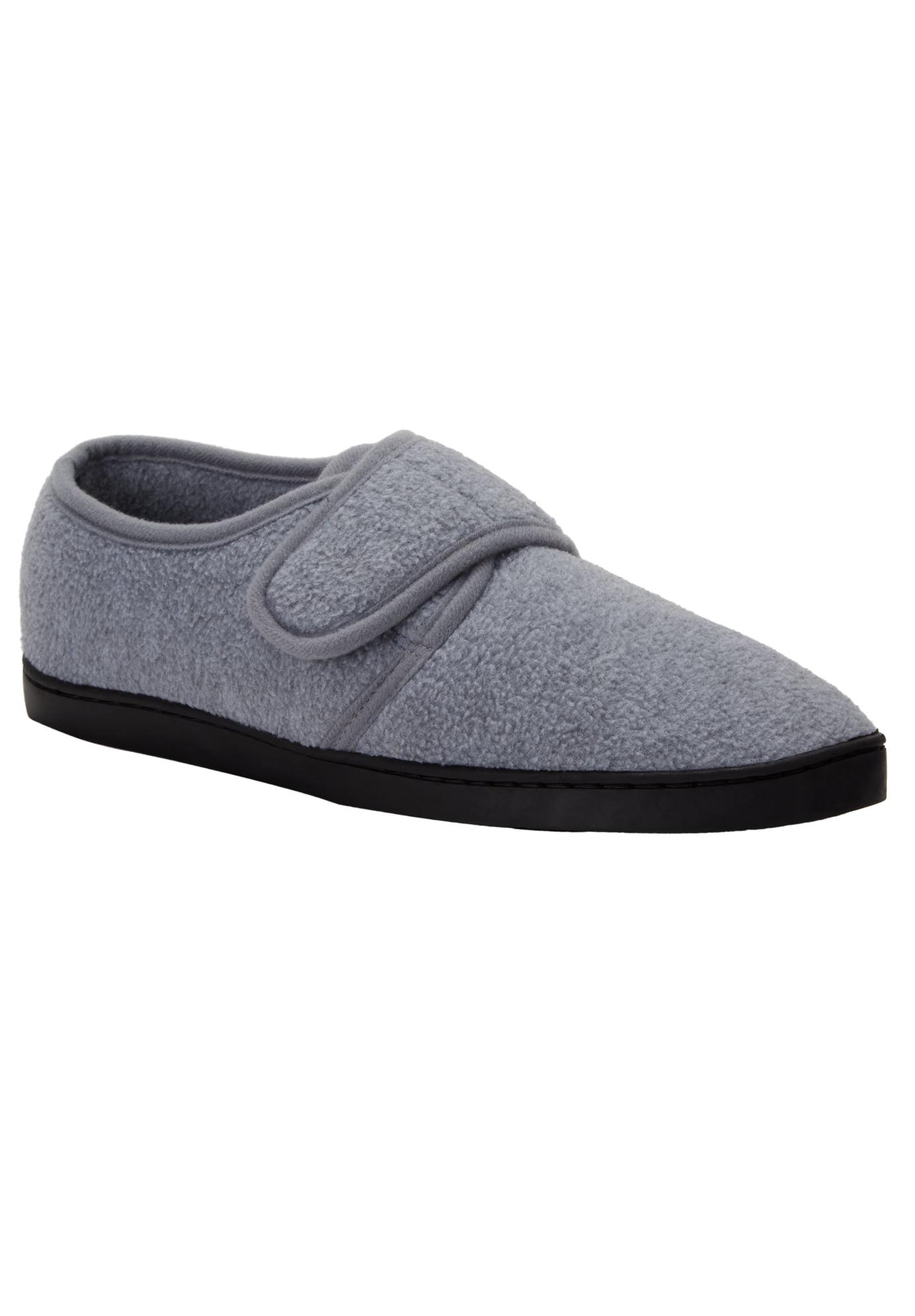 Wide Width Velcro-Close Slippers