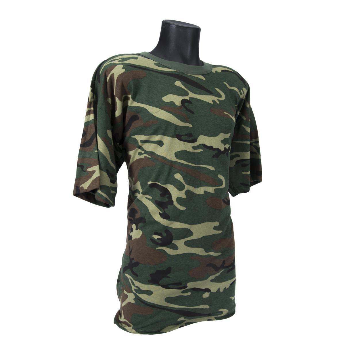 Mens T-Shirt Woodland Camo by Rothco
