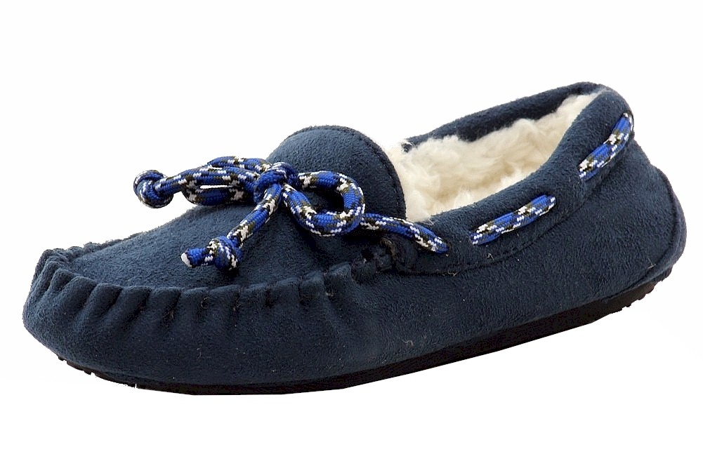 Stride Rite Boy's Navy Moccasin Slippers Shoes by Stride Rite