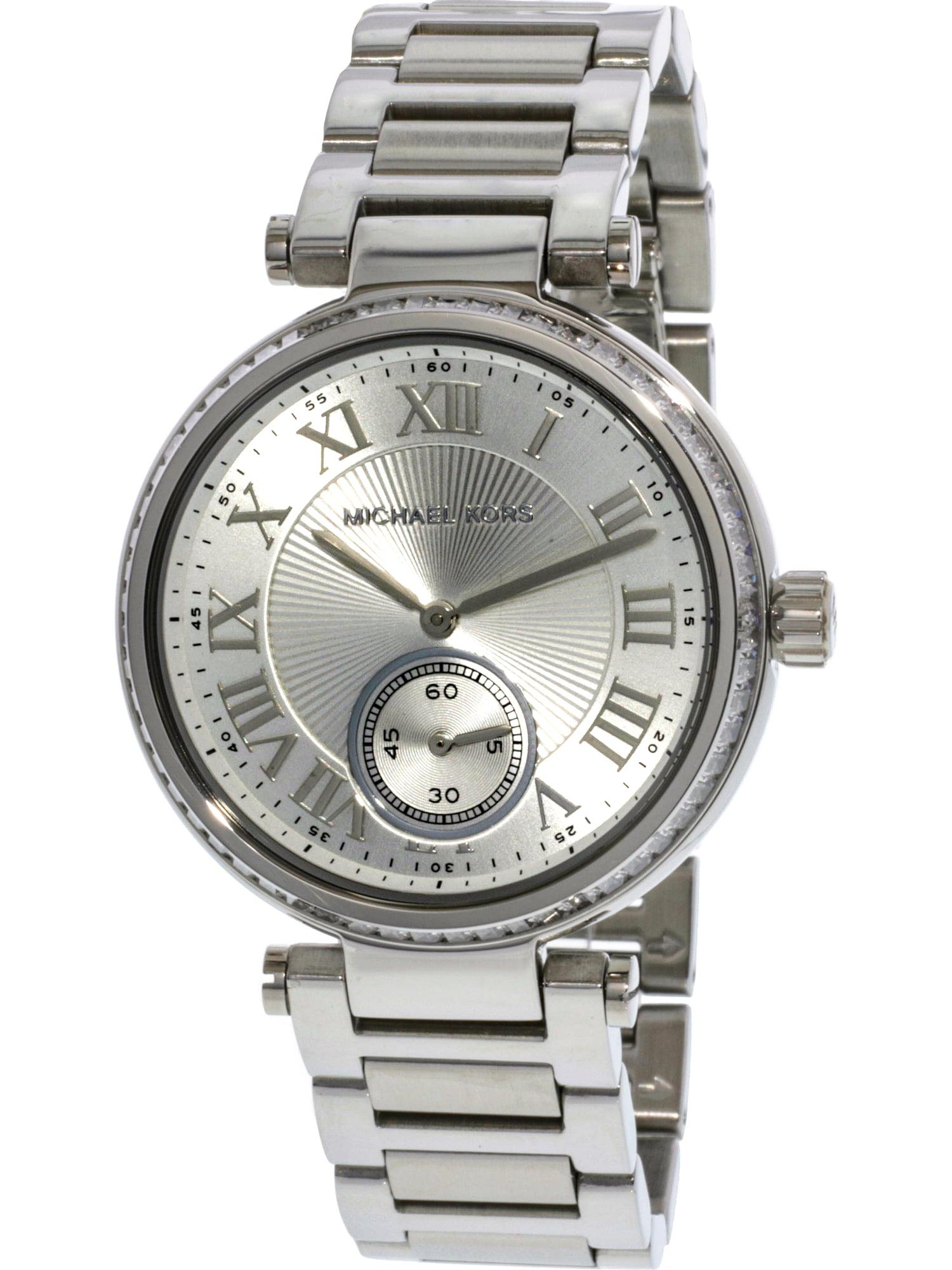 2d9a9c455442 Michael Kors - Women s Skylar MK5866 Silver Stainless-Steel Japanese Quartz  Fashion Watch - Walmart.com