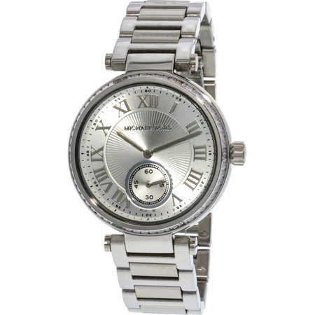 Michael Kors Women's Skylar MK5866 Silver Stainless-Steel Japanese Quartz Fashion Watch ()