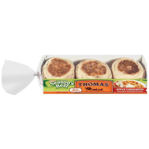 Thomas': Season's Best Apple Cinnamon 6 Ct English Muffins, 13 Oz