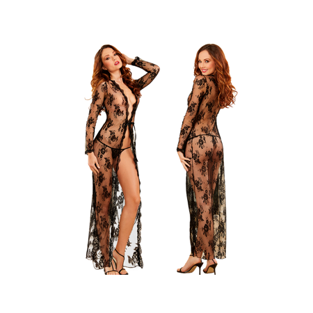 Irina Women Sexy Lingerie Sheer Lace Nightgown G-String 2 Piece Set