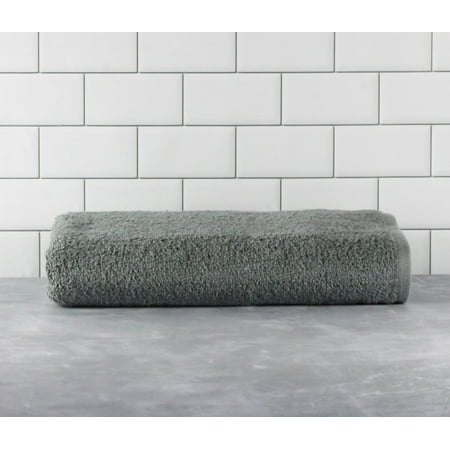 Mainstays Cotton Bath Towel, Grey